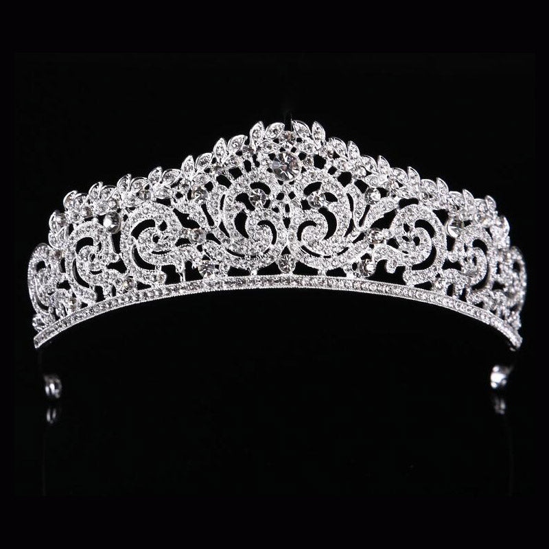 Rhinestone Tiaras Bridal Crown Headband women Headpiece Floral Wedding hair accessories Crystal bride hair jewelry