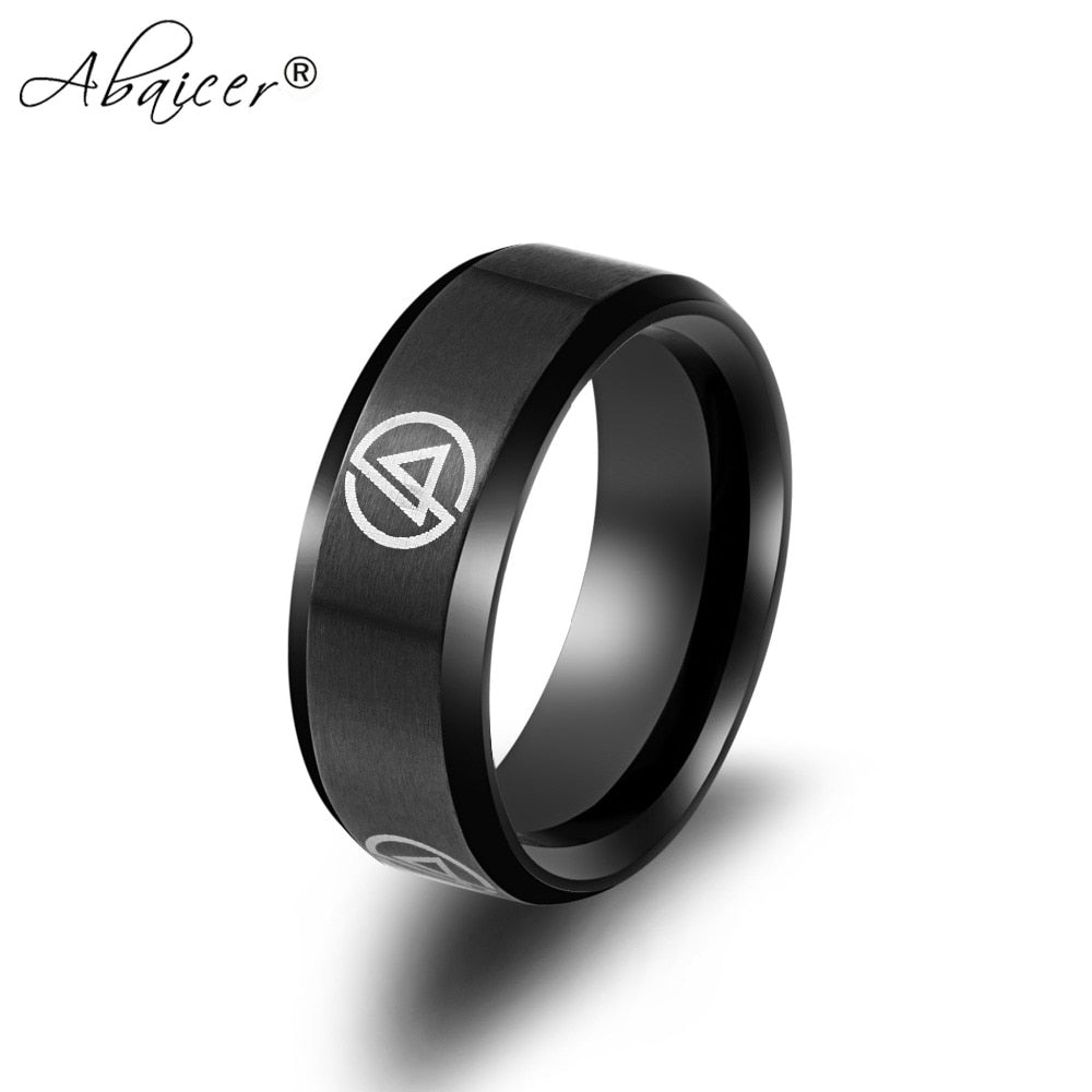 Rock Band Linkin Park band 316L steel men 's personality Finger Ring Drop Shipping
