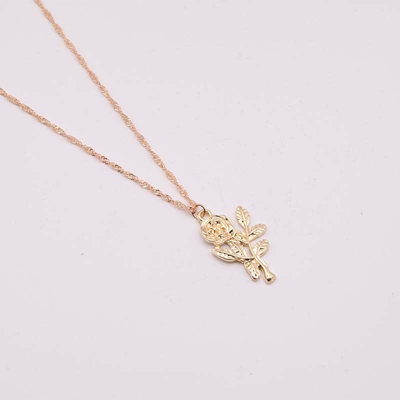 Rose Engrave Choker Necklace Pendant for Woman fashion flower shape pendant necklace wedding party lovers gift x180