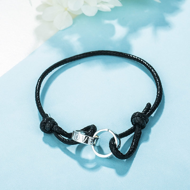 925 Sterling Silver Couple Leather Wrap Bracelets for Women Fashion Rope charm bracelet femme pulseras de plata 925