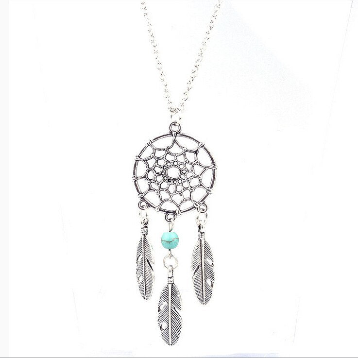 gioielli Dreamcatcher necklace silver chain colgante collier sautoir long necklaces pendants choker necklace collares