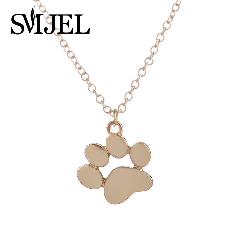 2017 New Tassut Cat Dog Paw Animal Necklace Women Jewelry Cute Pug Delicate Statement Necklace Set Gift N191