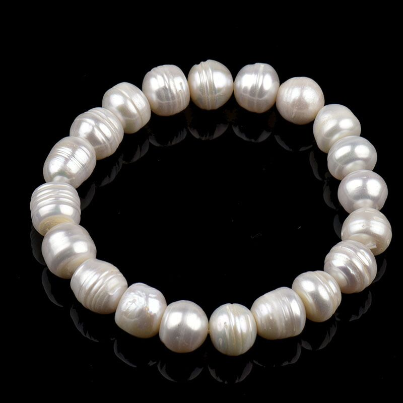 Pearl Jewelry Natural Pearl Bracelet For Women Top Quality Multi-Color Charm Bracelets Big Size Pulseras Mujer