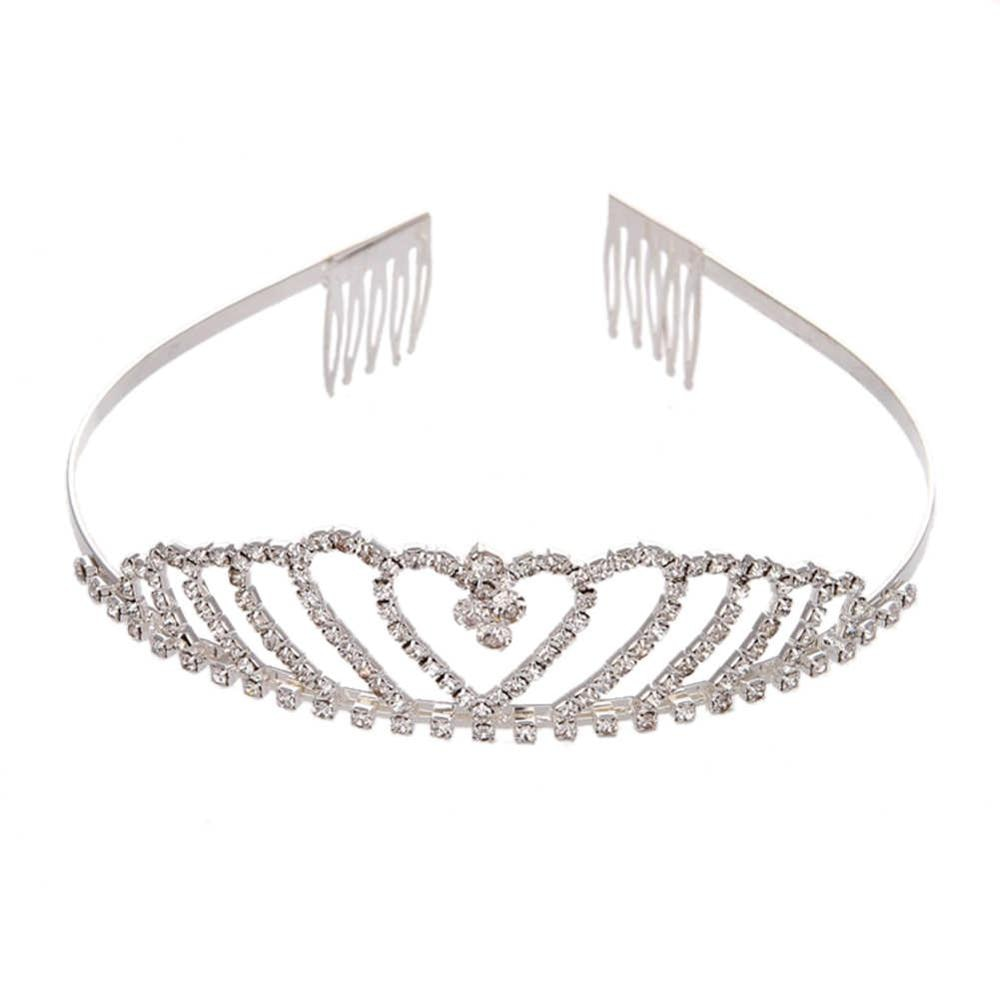 Shinning Princess Crown Bride Pageant Crowns Hair Comb Ornaments Jewelry Queen Diadem Wedding Bride King Headband