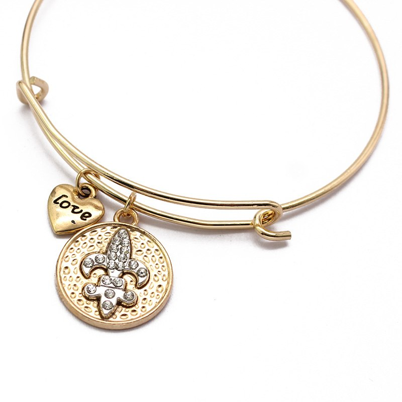Simple Bangle Starfish Cross Hamsa Wire Charm Bracelet Femme Cuff Bracelets For Women Love Gift Famous Brand Jewelry