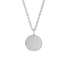 Simple Gold Filled Round Pendant Necklace Stainless Steel Silver Geometric Circle Chains Necklaces Women Minima Jewelry