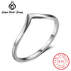 Simple Style 5mm 925 Sterling Silver Rings for Women Size 6 7 8 Female Finger Ring Minima Fine Jewelry Gift For Friends