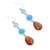 Synthetic Stone Waterdrop Earrings Classic Online Shopping India Retro Hanging Earrings Fashion Jewelry Brincos