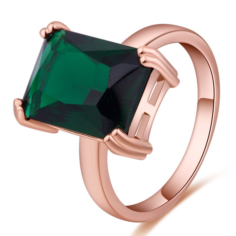 TYPEDESIGN jewelry AAA top zircon, natural emerald emerald wedding ring, birthd engagement. gemstone ring