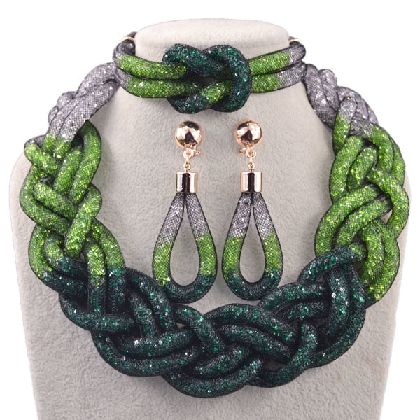 Time limited Top fashion luxurious evergreen nigerian jewelry set wedding african beads jewelry set dubai jewelry sets N1013