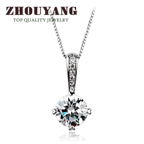 Top Quality Classic Simplicity Zircon Rose Gold Color Fashion Pendant Neclace N426 N427
