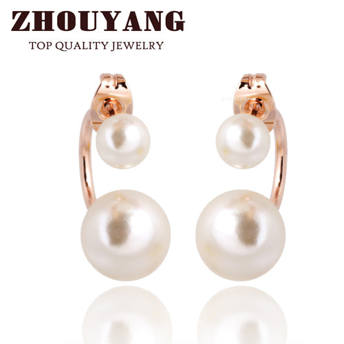 Top Quality Imitation Pearl Rose Gold Color Fashion Jewelry Made with Austrian Crystals Stellux Wholesale ZYE762 ZYE320