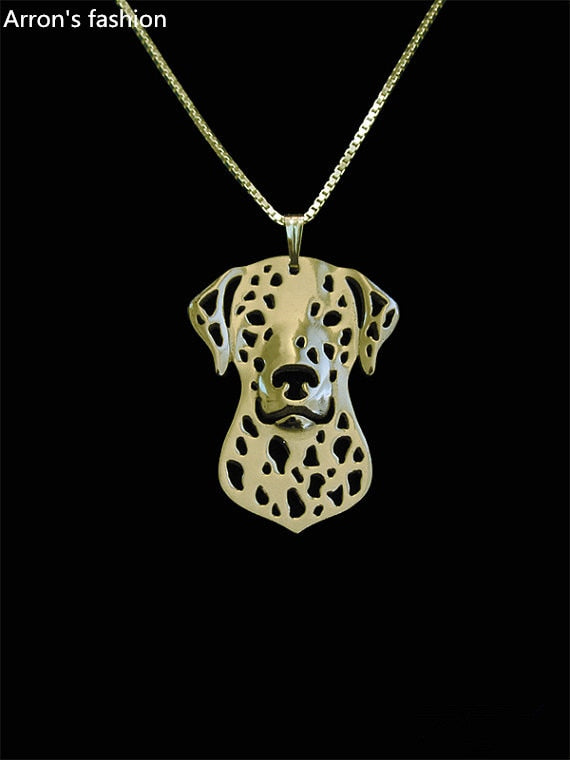 Trendy Dalmatian pendant necklace women  plated silver  dog jewelry statement necklace men cs go online shopping india