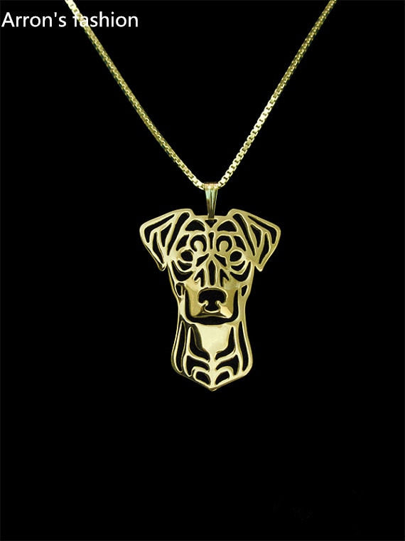 Trendy German Pinscher pendant necklace women gold silver dog jewelry statement necklace men cs go online shopping india