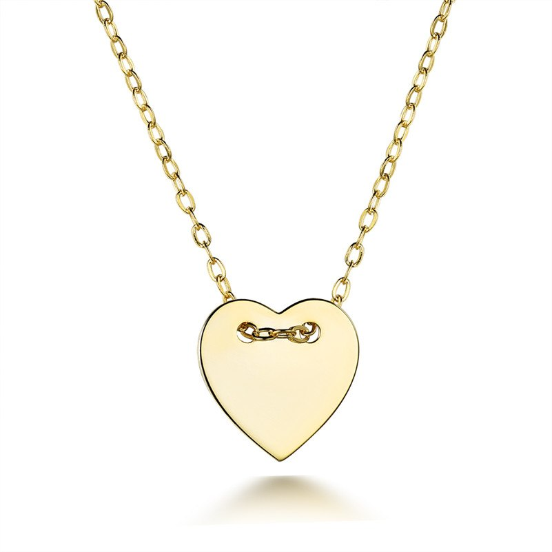 Trendy Heart Pendant Necklace for Women Sterling Silver Jewelry 18K Yellow Gold Plated Necklaces Fine Party Jewelry Love Gift