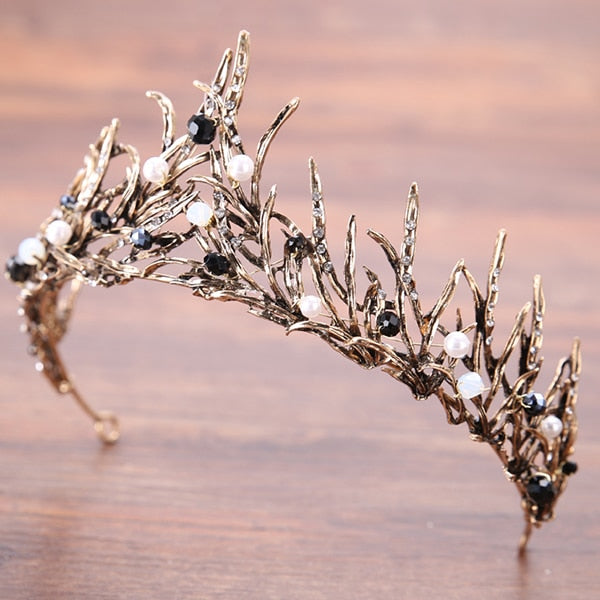 Trendy Silver Crystal Wedding Queen Crown Hair Jewelry Plated Rhinestones Tiaras Hairwear for Women Bride Wedding Accessories