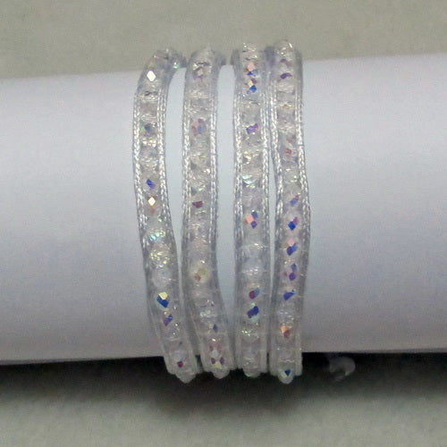 Unique Pearls jewellery Store, Offer Trendy Women Setting Lace-up White Crystal Handmade Wrap Bracelet Friendship