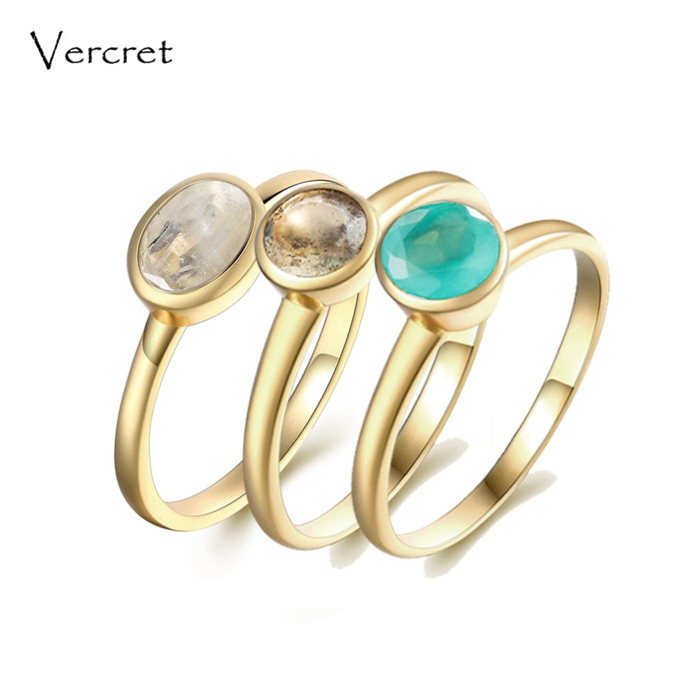 moonstone ring for women stackable rings 925 sterling silver gold moonstone rings set fine jewelry gifts