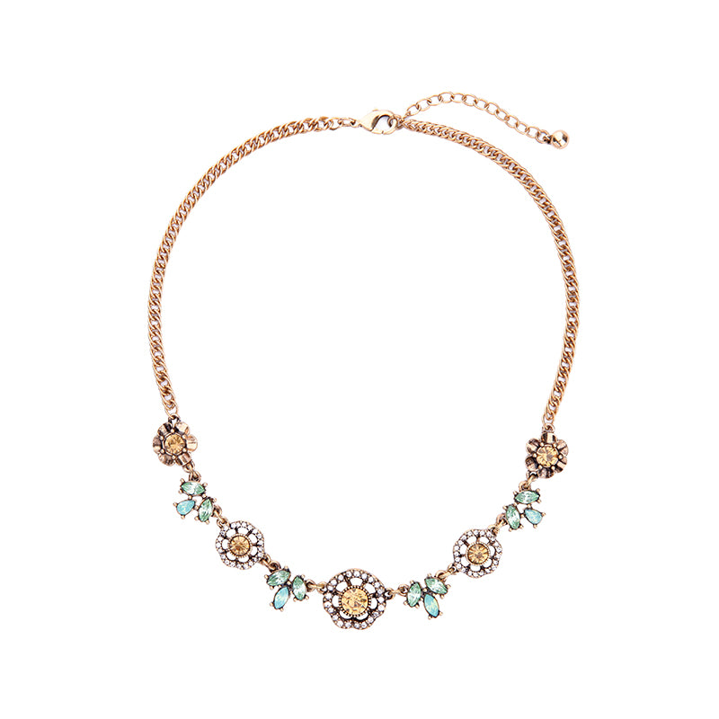 Vintage Crystal Flower Necklace for Women Fashion Online Shopping India Bijoux Collar Necklace Jewelry