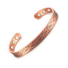 Pure Copper Bracelet Women Men Vintage Magnetic Bracelet Health Energy Adjustable Cuff Charm Copper Bracelet & Bangles