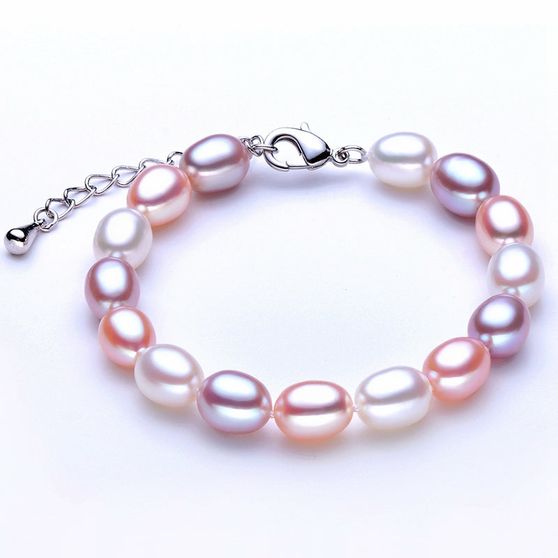 Wedding Pearl Bracelet for Women Jewelry,Real Natural Pearl Bracelets 925 Silver Girl Best Gift Birthd Top Quality