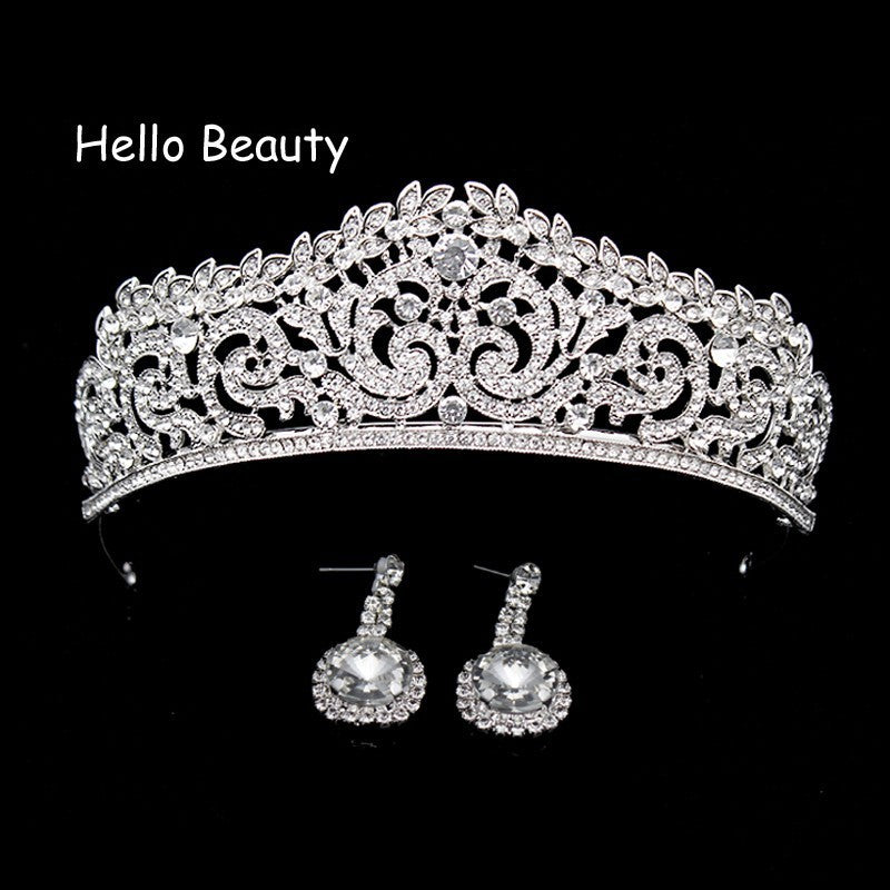 Wholesale Rose Gold Pink Vintage Baroque Queen King Hair Jewelry Pearl Crystal Tiara And Crown Headband For Women Bride Wedding