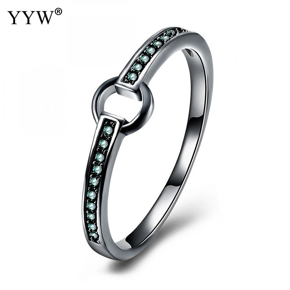 Women Men Finger Ring Black Color Plated fit Wedding Party Engagement Rings Jewelry Bijoux