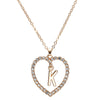 X1 Heart Shaped Letter Pandent Necklace For Women Summer Style Crystal Chain Necklace Fashion Jewelry Girlfriend Gift
