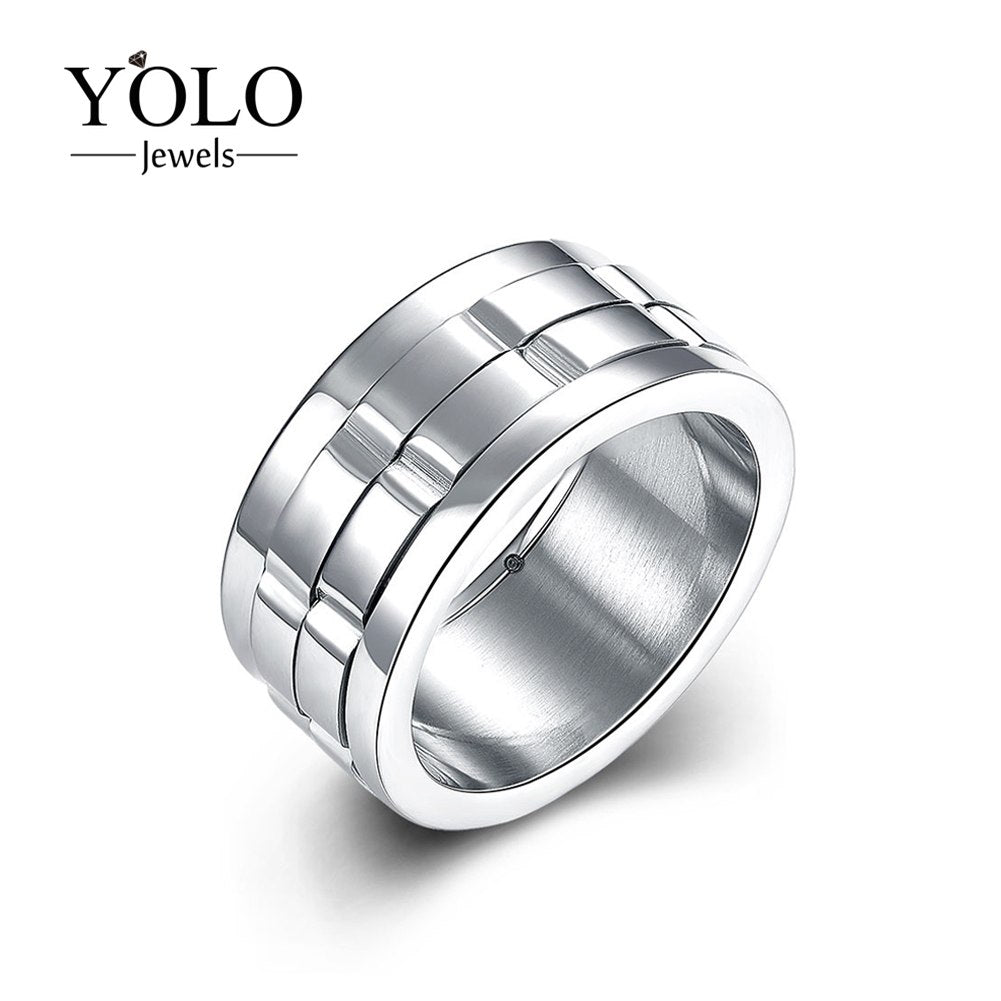 Stainless Steel Wedding Rings for Men Classic Ring Suitable for Engagement and Parties as a Gift for Boyfriend