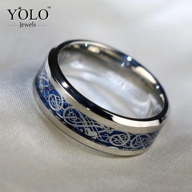 Stainless Steel Wedding Rings for Men Trency Ring for Boy with High Polished as a Love Gift for Boyfriend