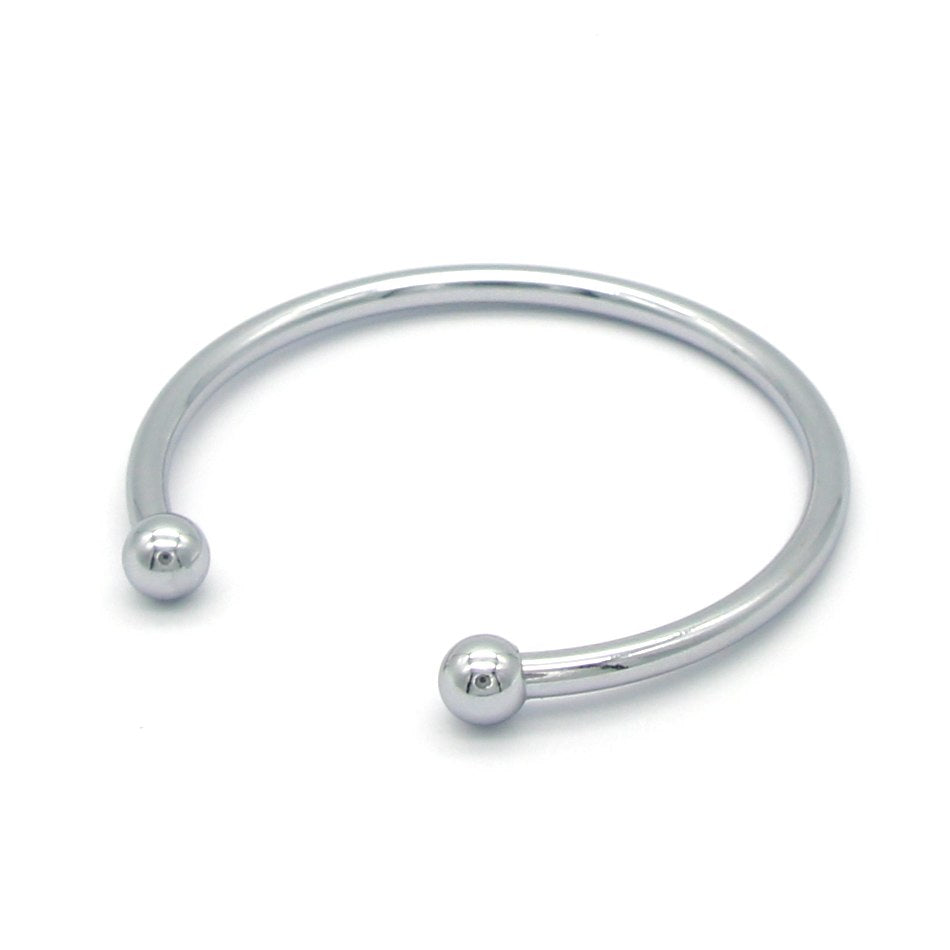 Round Charm Bracelets Stainless Steel Gold Silver Color Cuff Bracelet & Bangle for Women Jewelry Gifts Wholesale