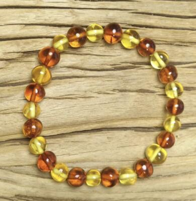 4 Colors Natural Amber Bracelet for Baby Adult Genuine Beads Original Irregular Amber Supplier Stretch Jewelry Wholesale