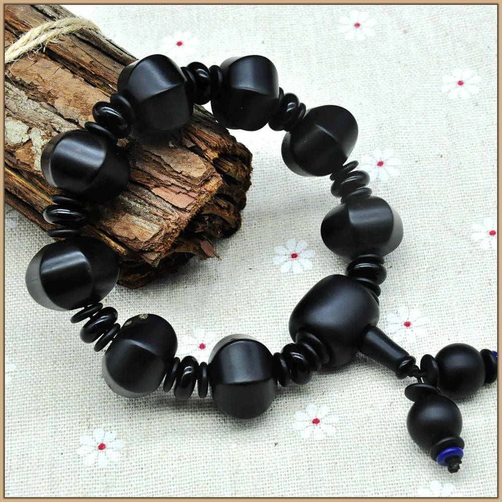 Natural Agate Bracelets Black Beads For Jewelry Making Casual Bracelet For Women Men Crystal Party Fine Jewelry Bag SL008