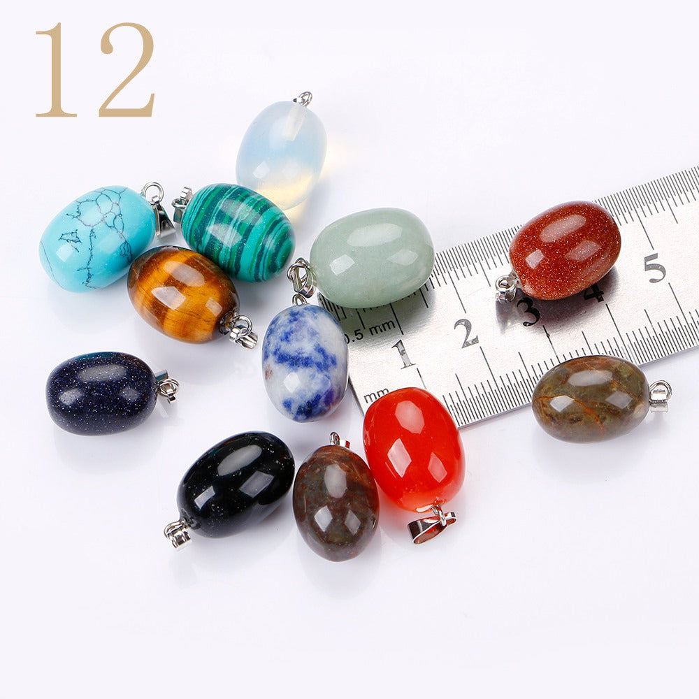 Natural Stone Pendant Crystal Gemstone Charms Small Women Necklace Jewelry Men Fashion Choker Bijoux Accessories Lot Bag