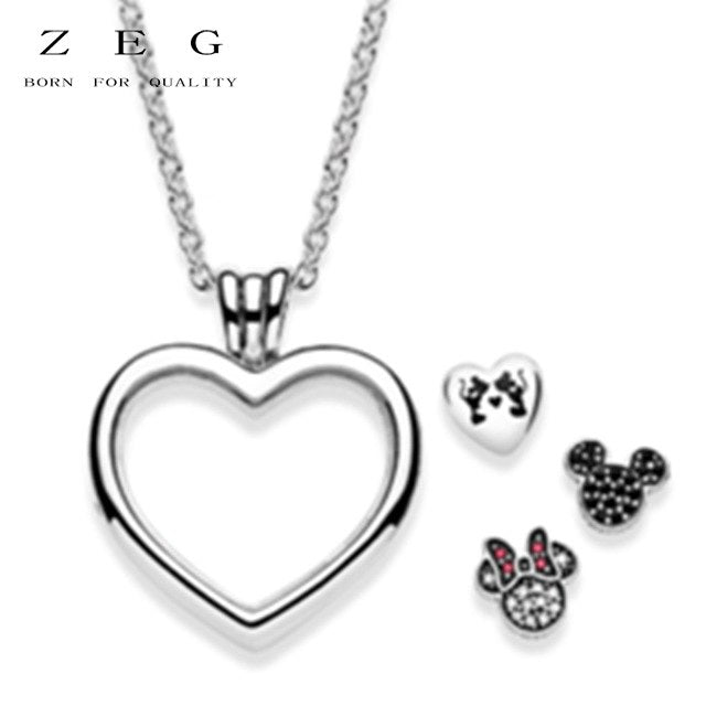 ZEG New High Quality Logo Heart Series Necklaces Free Package Manufacturers Wholesale Free Package Mail