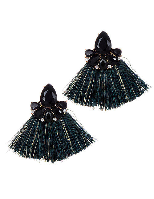 Fashion Style Jewelry Hot Sale Cheap Tiny Fringed Wedding Small Tassel Earrings for Women 6 Colors Statement Drop Earrings