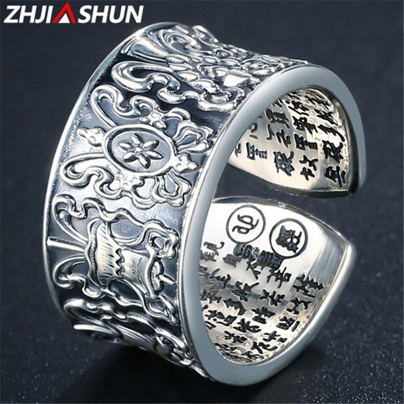 999 Sterling Silver Jewelry Adjustable Ring for Men Male Women Thai Silver Rings Anillos High Quality