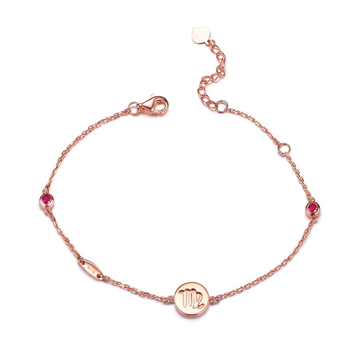 New Arrival Constellation Series Real 18K rose gold 0.13ct - 0.17 ct Ruby Bracelet S00648