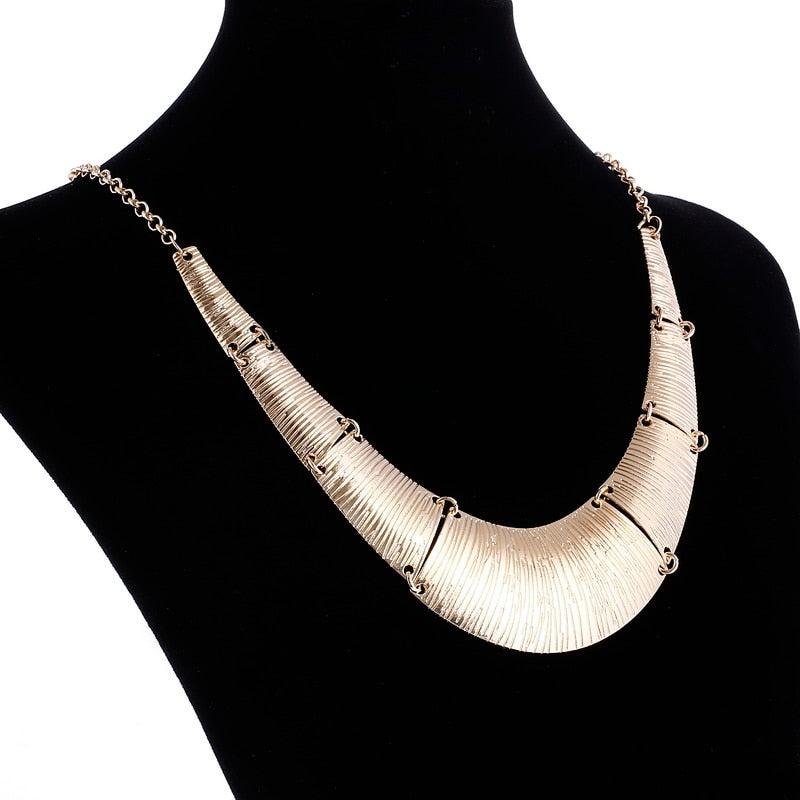 Jewelry wholesale Vintage Antient Gold Silver Leaf Pendant Statement Necklace For Woman New collar necklaces & pendants