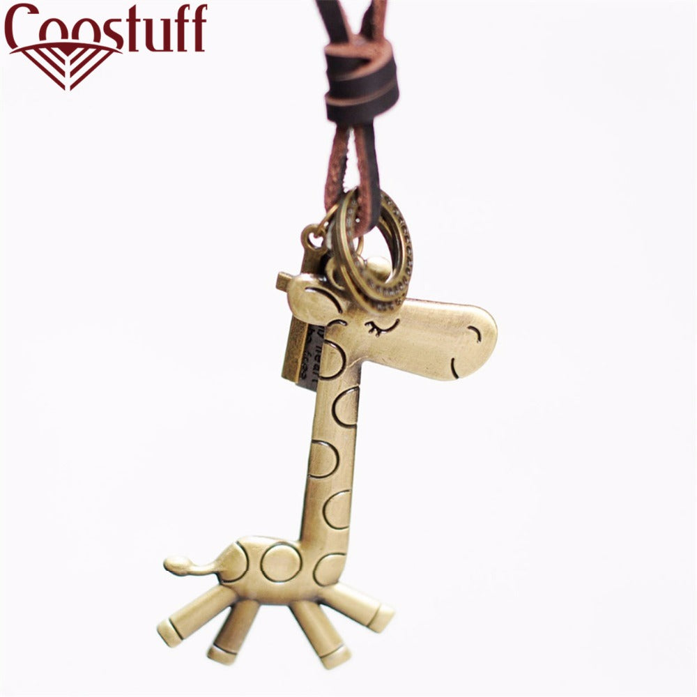 cute woman jewelry statement necklaces & pendants,leather rope collares mujer choker colar,giraffe necklace women gargantilha