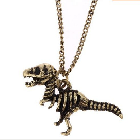 cute simple New dinosaur skeleton necklace