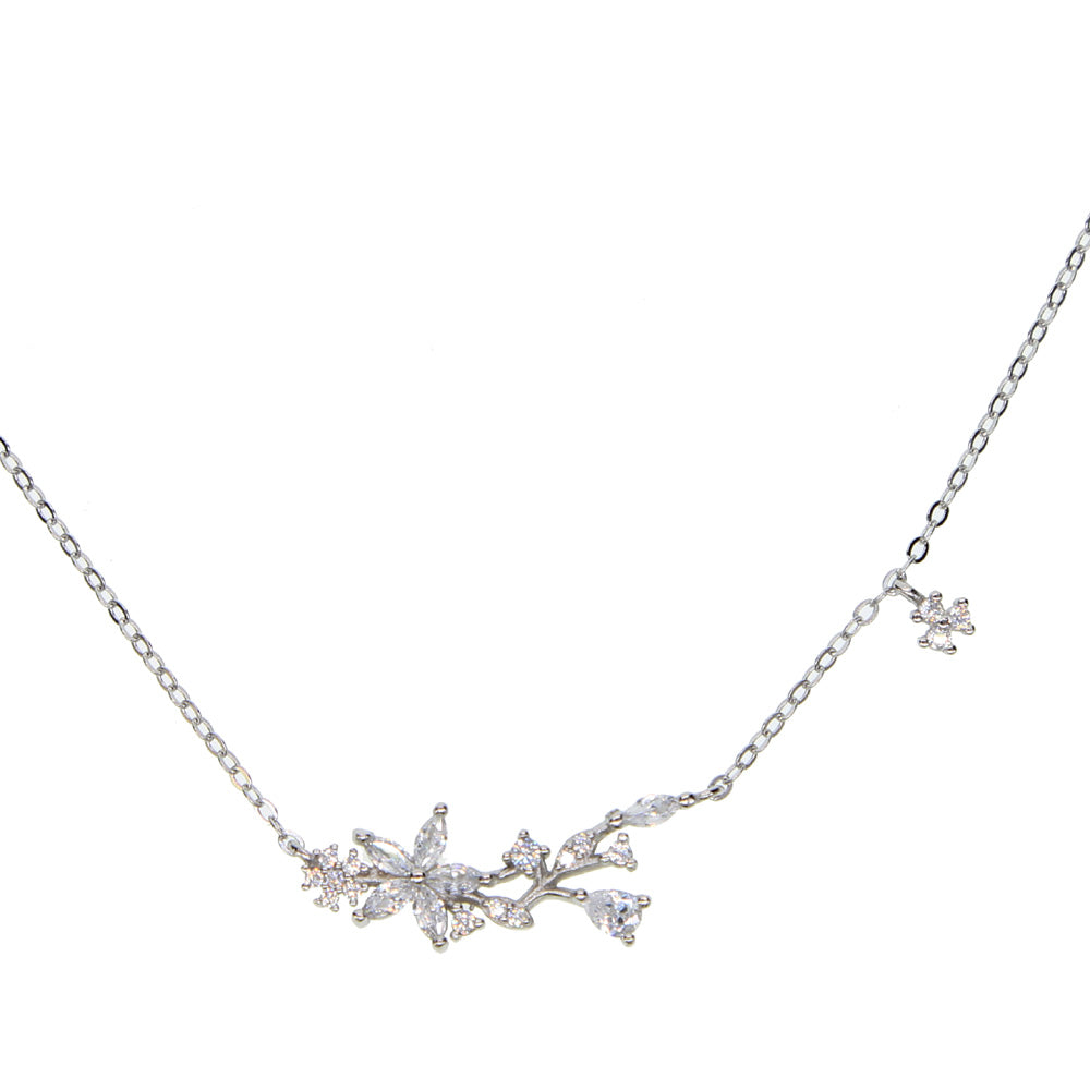 new arrive dainty delicate four clover lucky girl chain c clover charm 100% 925 sterling silver choker chain silver necklace