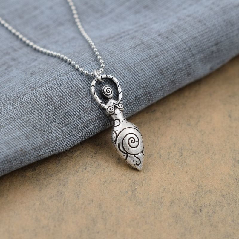 spiral goddess pendant necklace amulet wizard necklaces