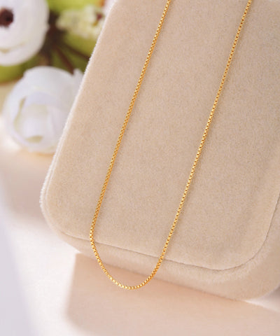 wholesale 16,18 Thin Real 925 Sterling Silver Slim Box Chain Necklace Women Girls Kids Children 40-45cm Jewelry gold / silver
