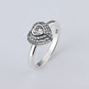 wholesale Sale Fashion jewelry jewelry Pave Setting Ocean Hearts Compatible With pan 925 silver Retro woman Ring Ring