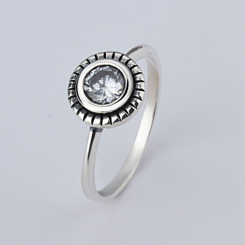 wholesale Sale Fashion jewelry jewelry Pave Setting Plant Trendy Compatible With 925 silver Retro woman Ring Ring