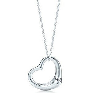 x2 Fashion Love Heart Pendant Necklaces For Women Charming Silver Color Statement Necklaces Party Wedding Jewelry Gift Wholesale