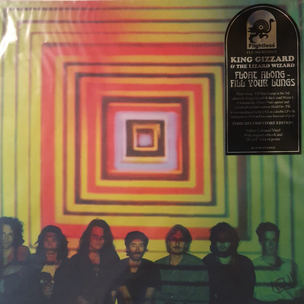NEW - King Gizzard & The Lizard Wizard, Float Along - Fill Your Lungs Easter Yellow Vinyl