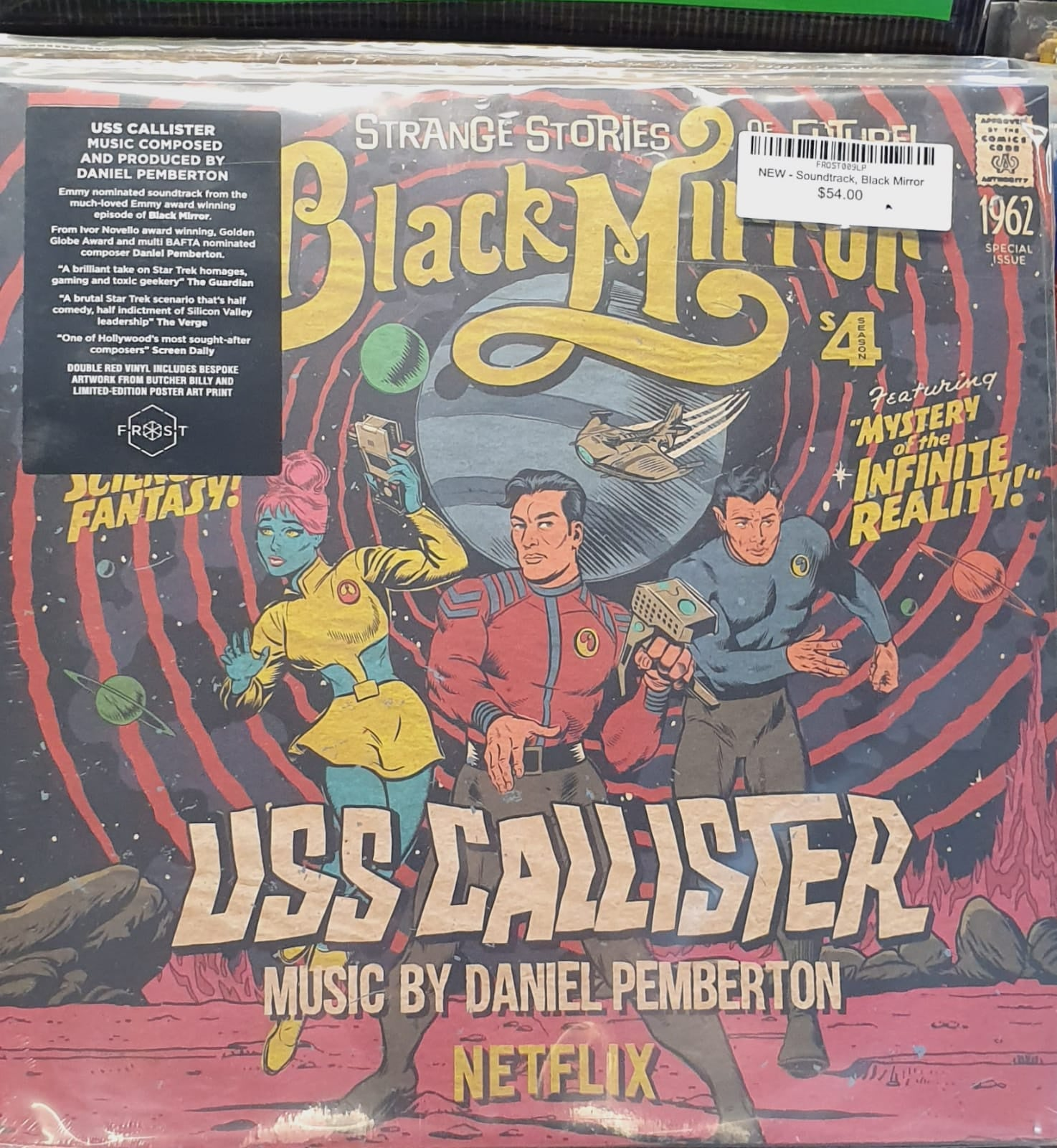 NEW - Soundtrack, Black Mirror - USS Callister (Original TV Soundtrack)  Red Vinyl