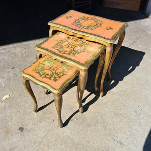 Vintage Italian Gilded Nest of Tables